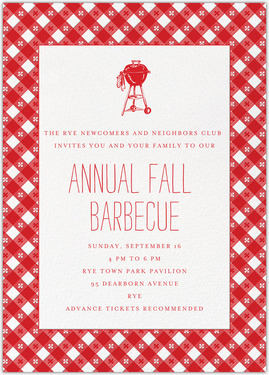 ANNUAL FALL BARBECUE